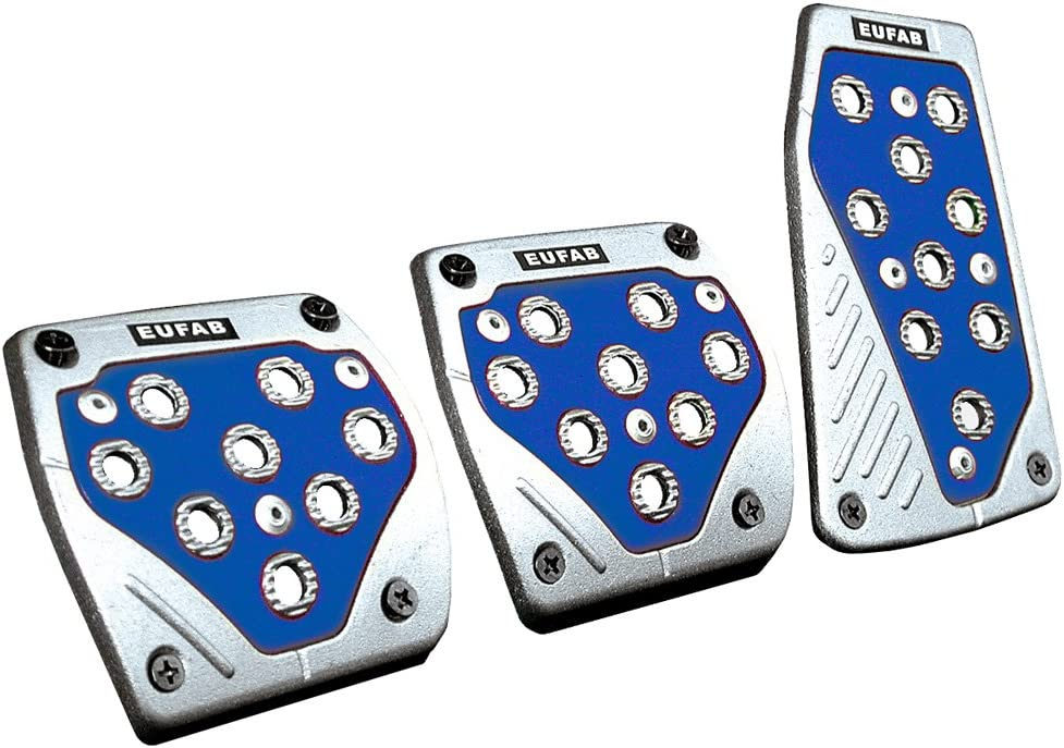 Eufab 17164 Sport Pedal Set 3 Teilig Blau Alu Auto