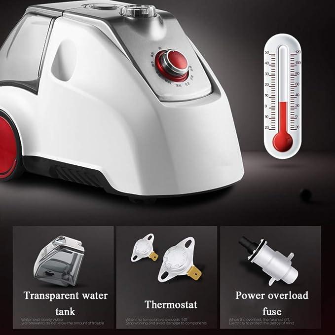 GDLXL Plancha De Vapor Vertical LY-055 1800W con 30s Elemento De Calentamiento De Calor Rápido E Depósito De Agua Transparente De 2.5L Gran Capacidad,White: ...