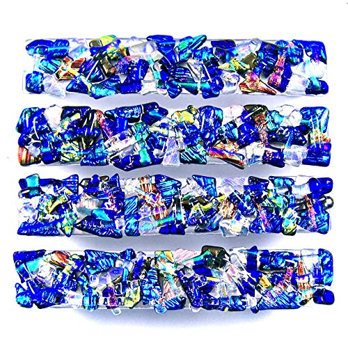 (Dichroic Glass Drawer Pull Handle Custom Made Abstract Mosaic - Cabinet Pulls or Knobs - 1