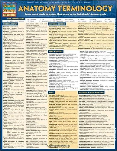 Anatomy Terminology (Quick Study Academic): 9781423216322: Medicine ...