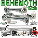 BEHEMOTH Triple Trumpet Train Horn & VIAIR 150psi 275c 2.5 Gal. Kit