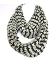 Mix Thread Braided 2-Tone Soft Woven Infinity Loop Figure Eight Scarf By Silver Fever