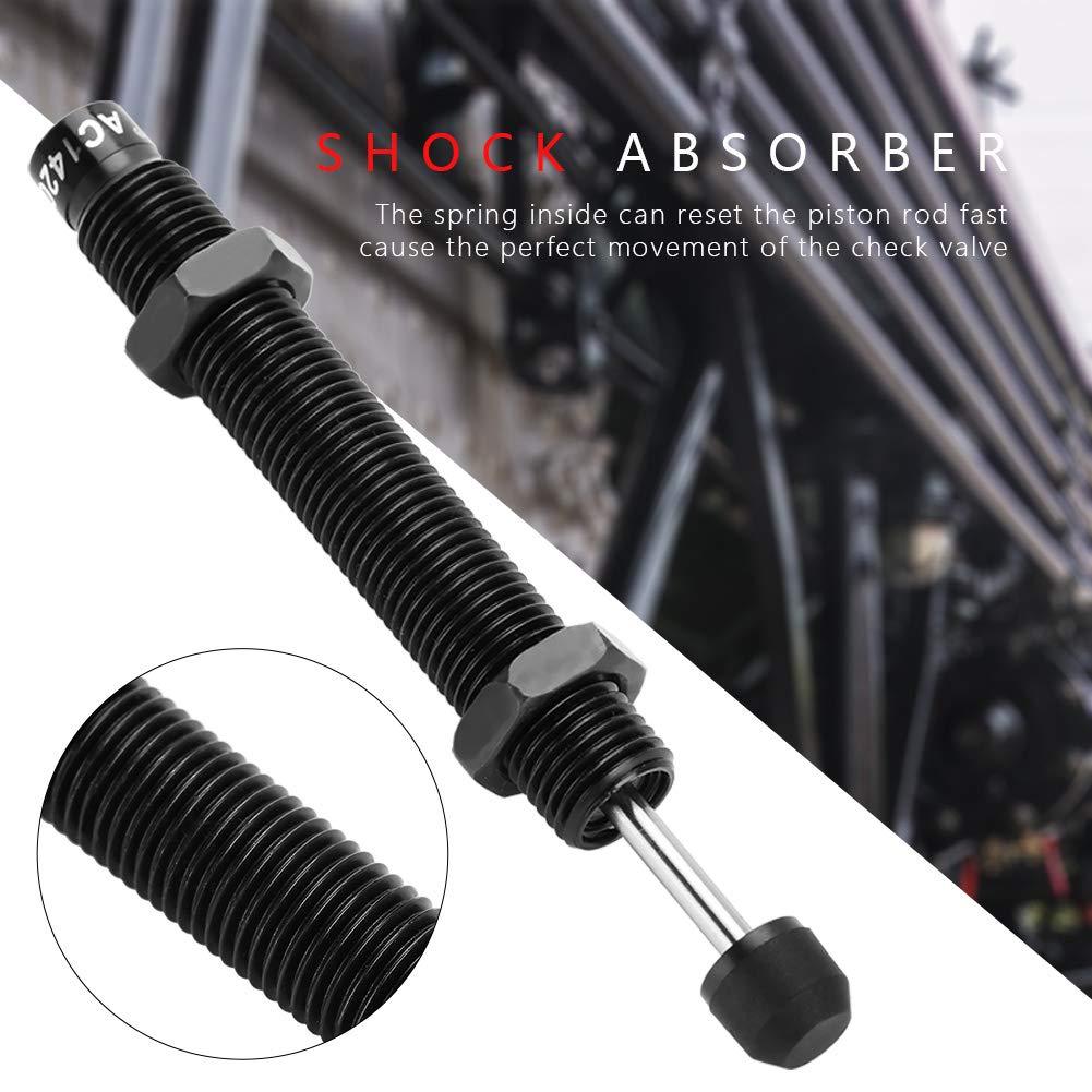 Ammortizzatore a pressione olio a corsa nera M14 x 20mm per cilindro pneumatico pneumatico AC1420-2