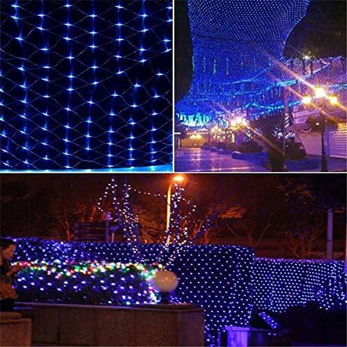 MLXDD MLX Verschiedene Größen der blauen Vorhang-Lichterkette, LED-Netzlichter-Feiertagslichter, können angeschlossen Werden