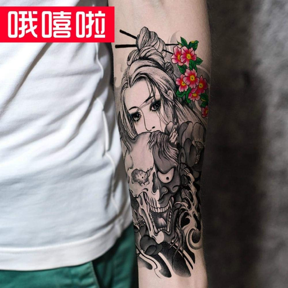 Yi Ji Huan Hua Dan Flower Arm Tattoo Stick Stick Tear Tears Tattoo ...
