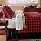 Western Red Buffalo Plaid Full/Queen Quilt Set