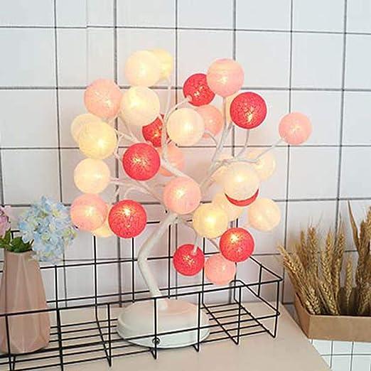 Luz de Escritorio LED, decoración de Bola de Hilo Lámpara de Mesa ...