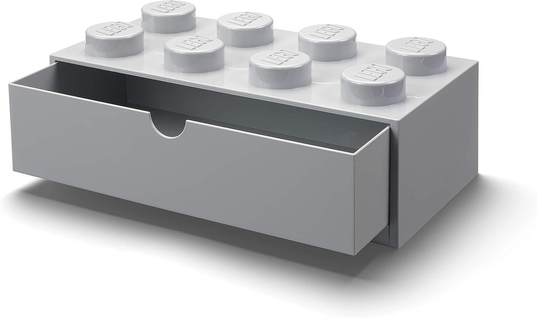 LEGO Desk Drawer 8, Grey