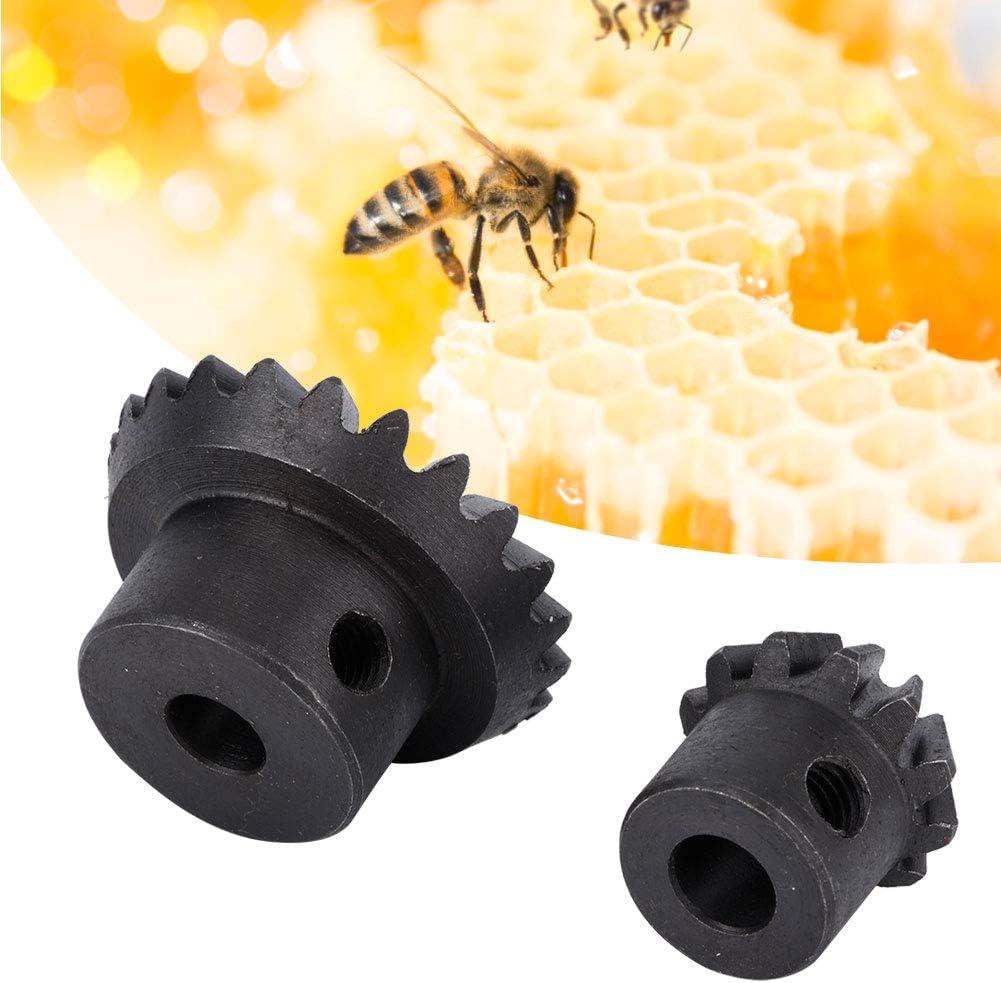 Wifehelper 2 Piezas de Apicultura Extractor de Engranajes Acero Negro Apicultura Extractor de Miel Accesorios de Accesorios Apicultor Herramienta