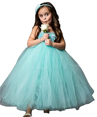 17f390947 THE LONDON STORE Baby Girl s Green Tulle Net Kids Dresses  Amazon.in ...