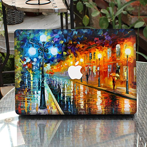 GTNINE MacBook Sticker Raining Street Full Set MacBook Vinyl