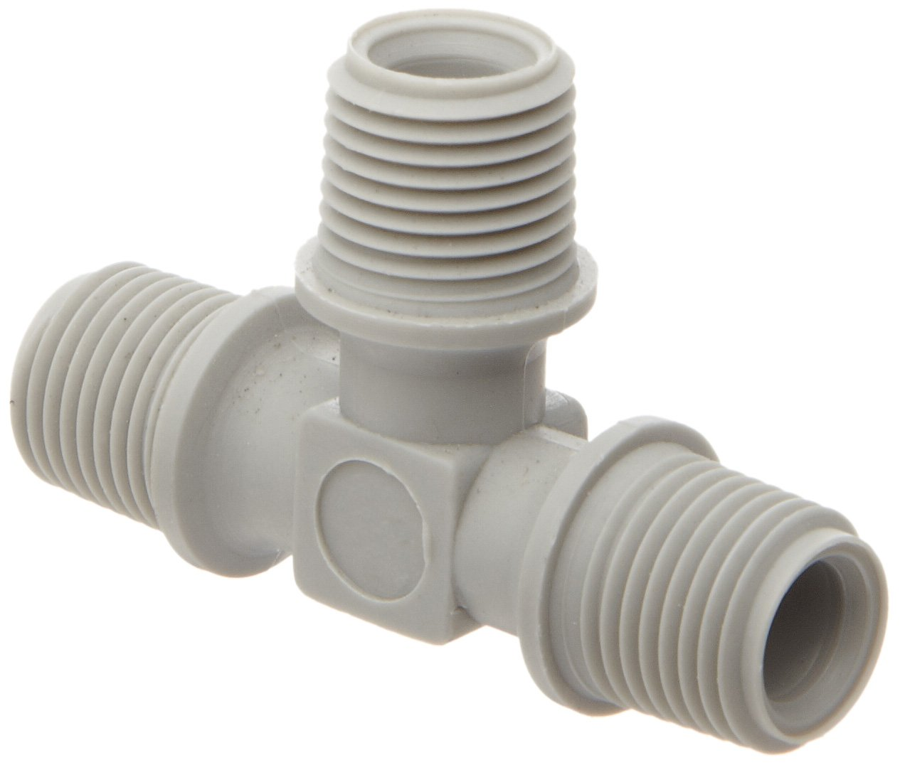 1//8 NPT Male Gray Pack of 5 Tefen Nylon 6//6 Pipe Fitting Tee