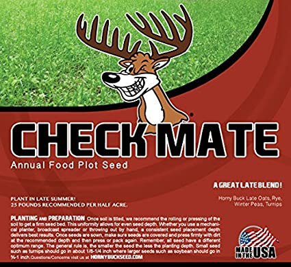 Amazon com: Horny Buck Food Plot Seed - Check Mate Blend Mix