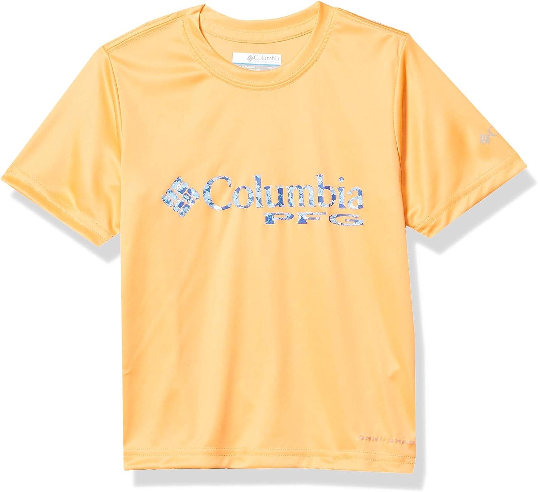 Moisture Wicking Sun Protection Columbia Boys PFG Printed Logo Graphic Tee Shirt