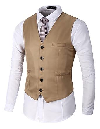 4c4816d7a9ac Boom Fashion Slim fit Gilet Veston Veste Costume sans Manches Homme Branché(Chemise  Non Inclus)  Amazon.fr  Vêtements et accessoires
