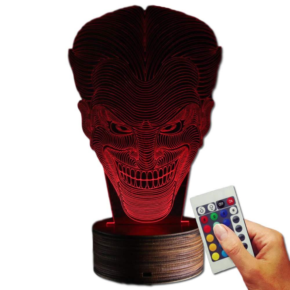 The Joker Dekolampe Kopf (3D-Hologramm Illusion) Stuff4Players