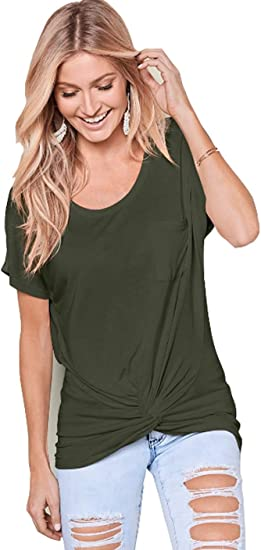ZANZEA Women Short Sleeve Casual Summer T-Shirt Tops Oversize Plain Blouse Shirt