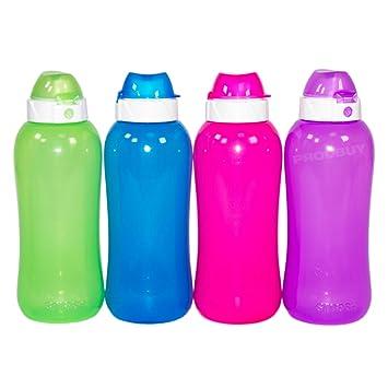 Juego de 4 varios colores plástico libre de BPA botellas de agua Copa 330 ml niños