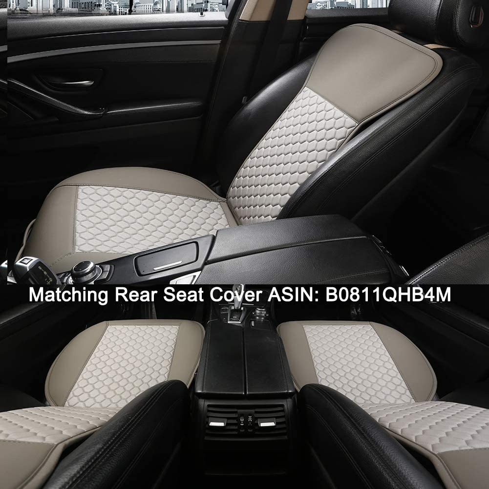 Gray Black Panther Car Seat Cover with Lumbar Support and Headrest Cover 1 Piece Universal Sideless Driver Seat Protector