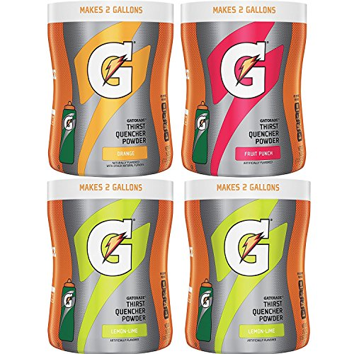 - Gatorade Thirst Quencher Powder Variety Pack, 18.3 Ounce, 4 Canisters