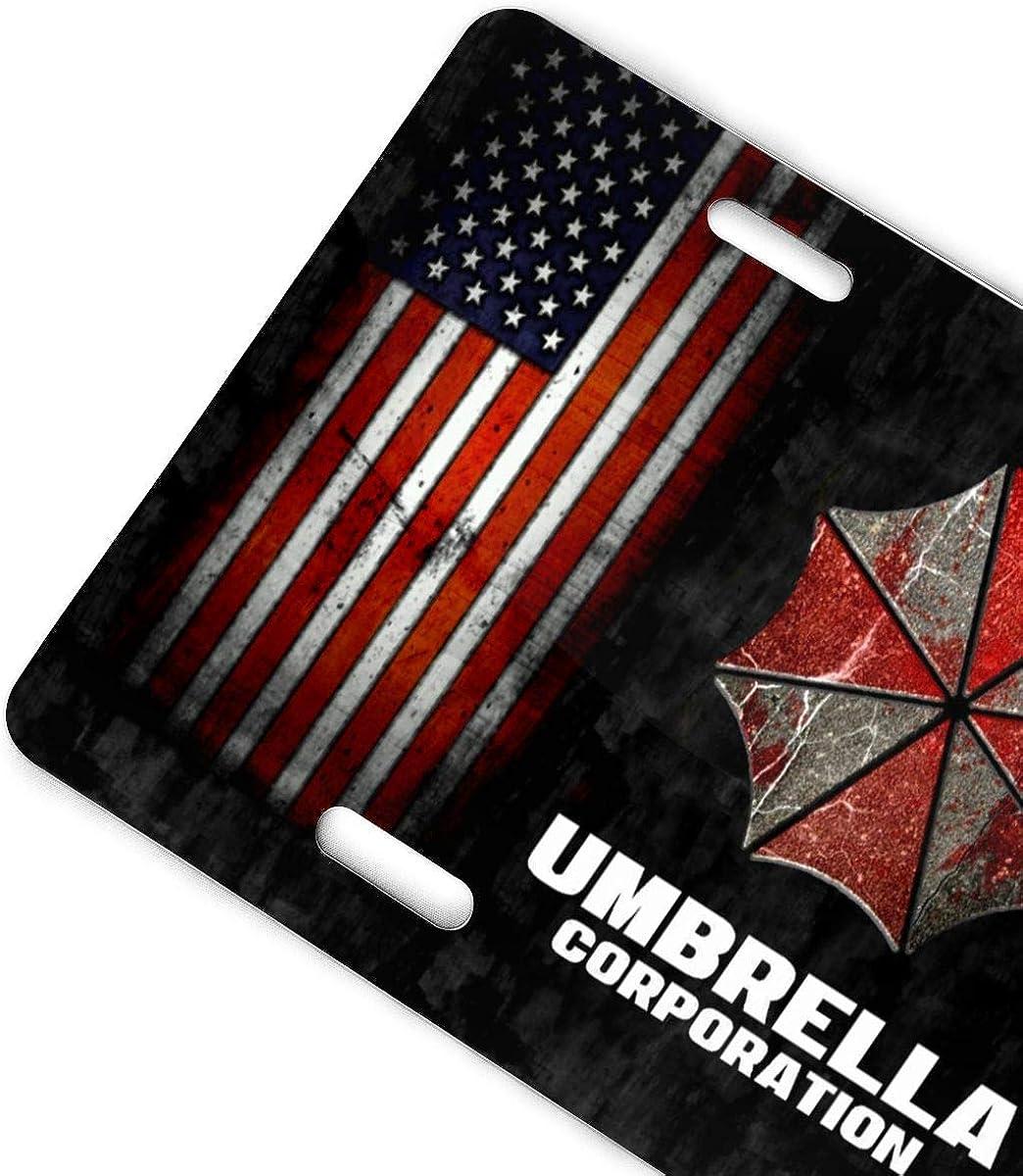 D0zopazkw License Plate Cover Funny License Plate 12 X 6 Umbrella Corporation