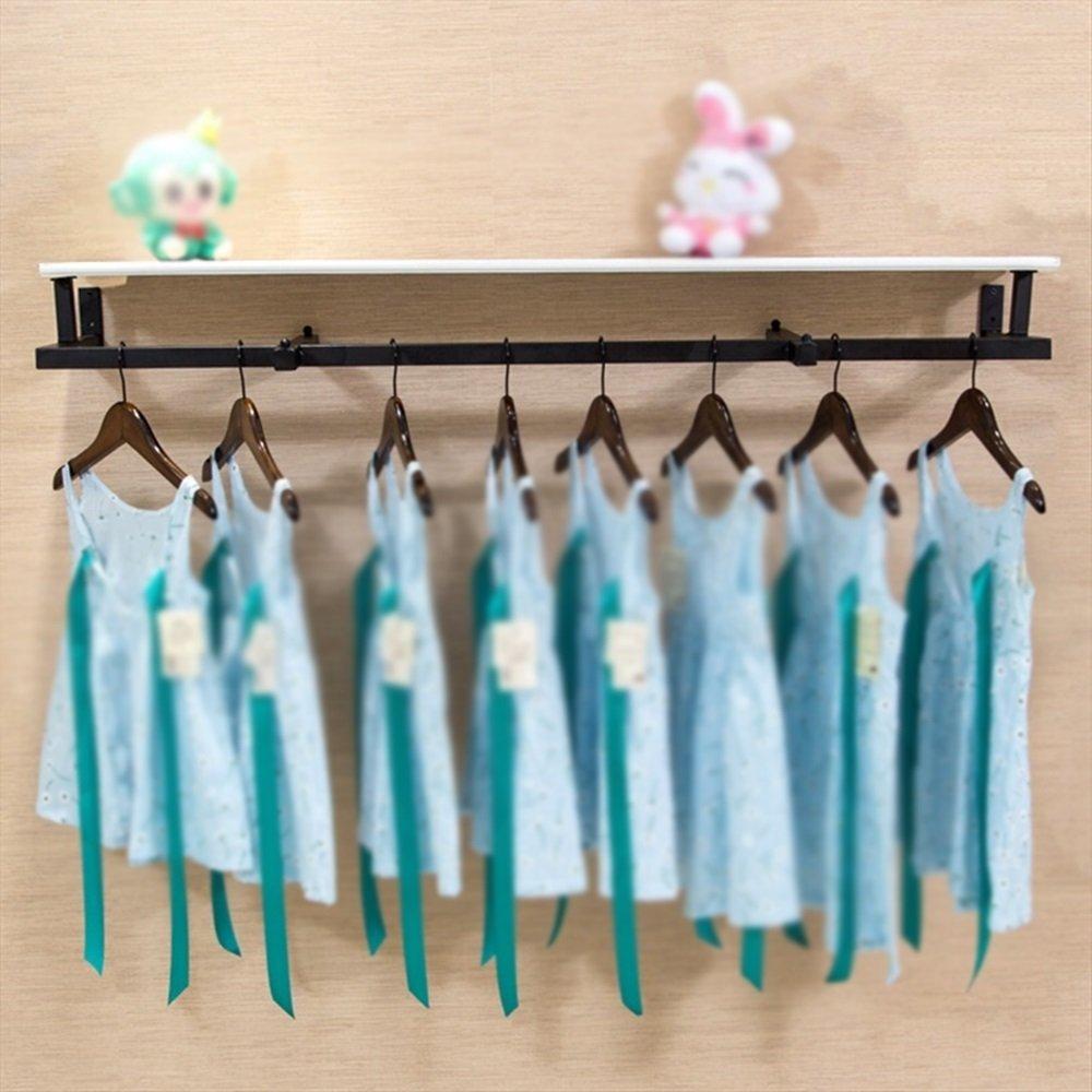 Clothing rack display rack / wall side shelf / children's clothing rack / clothing store hanger / womens clothing store rack / shelf / combination racks / length 120cm hanger by Hangers (Image #1)