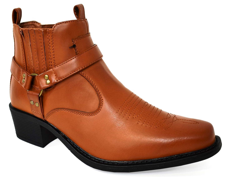 Classique Western Botines de Vaquero para Hombre: Amazon.es: Zapatos y complementos