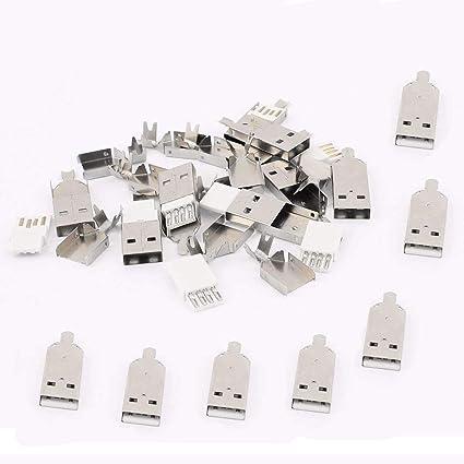 Amazon.com: QMseller - 20 conectores USB tipo A macho con ...