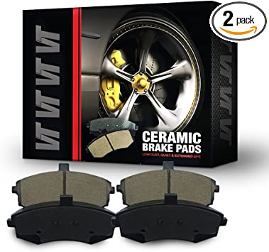 FRONT REAR Ceramic Disc Brake Pads 2 Complete Sets For Cadillac SRX 2010-2016