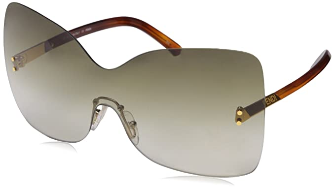 069a87128b4 Image Unavailable. Image not available for. Colour  Fendi Twist Visor  Sunglasses in Purple Gradient FS 5273 513 ...