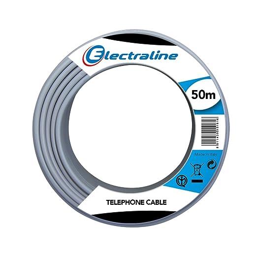 10 opinioni per Electraline 14002 Cavo Telefonico/Citofonico, 1 Coppia e Messa a Terra,