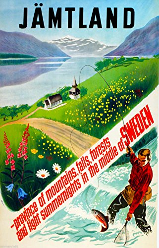 J?mtland Sweden Swedish Scandinavia Vintage Travel Poster Art Advertisement