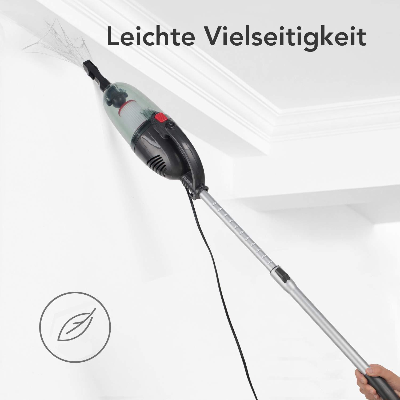 7m Netzkabel 1.0L Staubbeh/älter【Energieklasse A】 Aokin Staubsauger mit Kabel Starke 15KPa Saugkraft 2 in 1 Leichter beutelloser Staubsauger mit HEPA-Filter