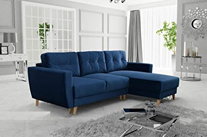 Fine Gama Mobler Corner Sofa Bed Retro With Storage Sprung Seat Velluto Fabric Modular 3 Seater L Shape Universal Reversible Pull Out Wooden Home Interior And Landscaping Pimpapssignezvosmurscom