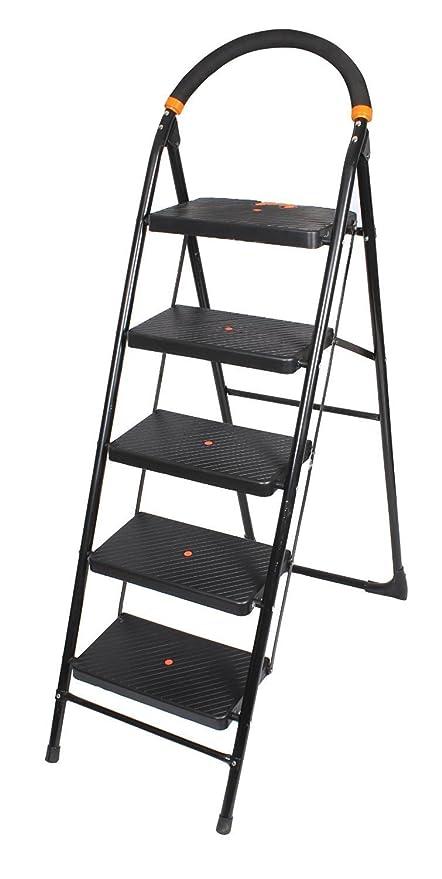 Ciplaplast GEC-L5M 5 Step Milano Folding Ladder (Black)