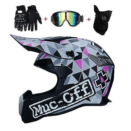 Adulto Motocross Casco Trajes, con Gafas Máscara Guantes, Hombres ...