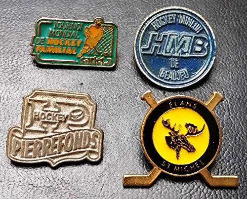 Lot of 3 Various Hockey Tournaments Pins - HMB, Pierrefonds, Elands St Michel
