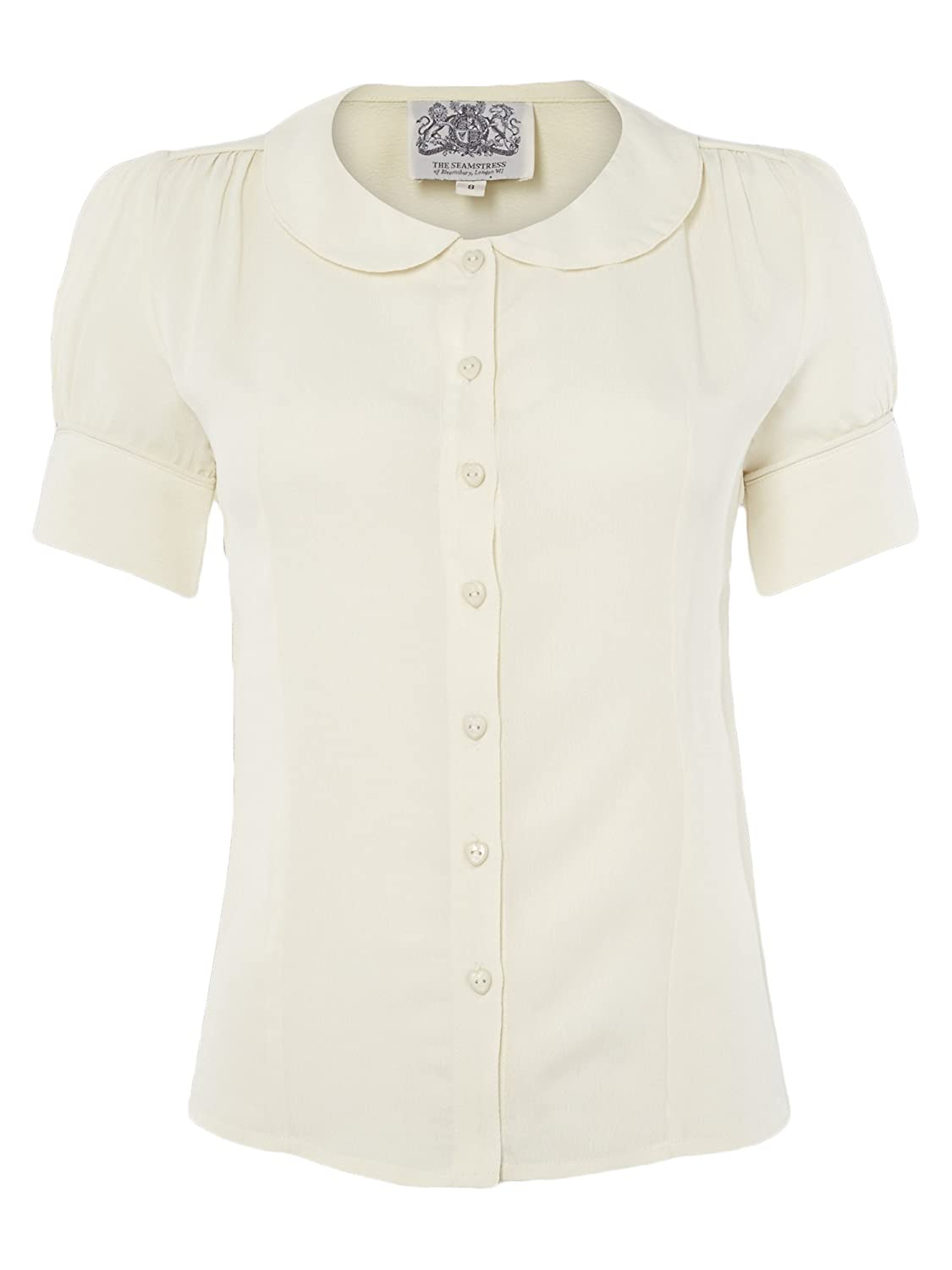 1940s Blouses and Tops 1940s Authentic Vintage Inspired Jive Blouse in Cream £39.00 AT vintagedancer.com