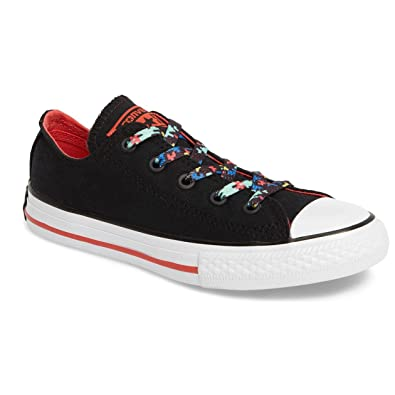 e8c48a88ce25 Converse Chuck Taylor All Star Ox Black Ultra Red White (1 Little Kid