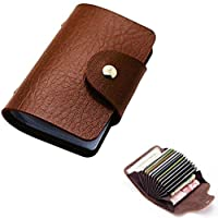 Business ID Credit Card Wallet Candy Color Slim Faux Leather Pocket Holder Case With 24 Cards Slot.