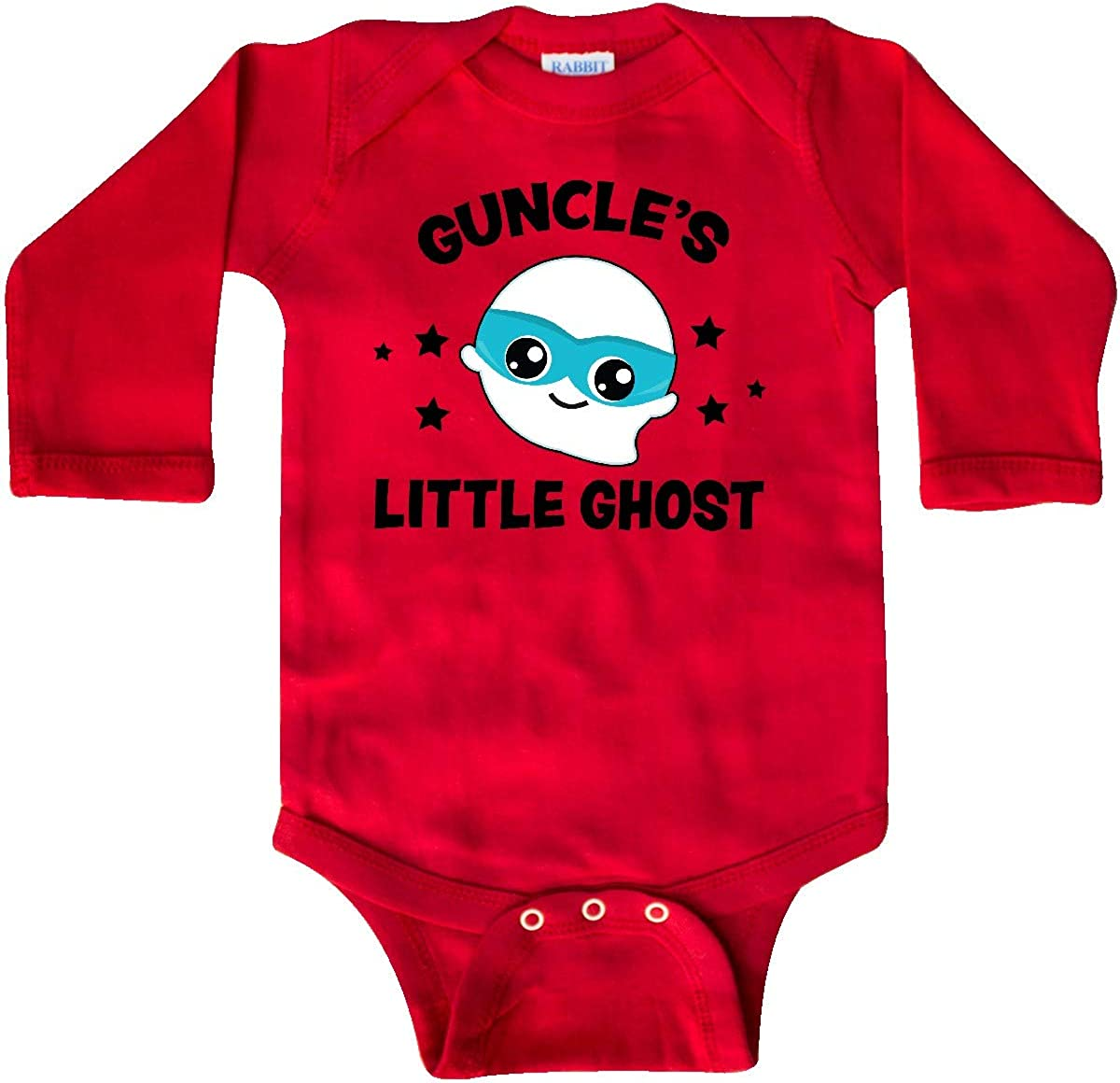 inktastic Cute Guncles Little Ghost with Stars Long Sleeve Creeper