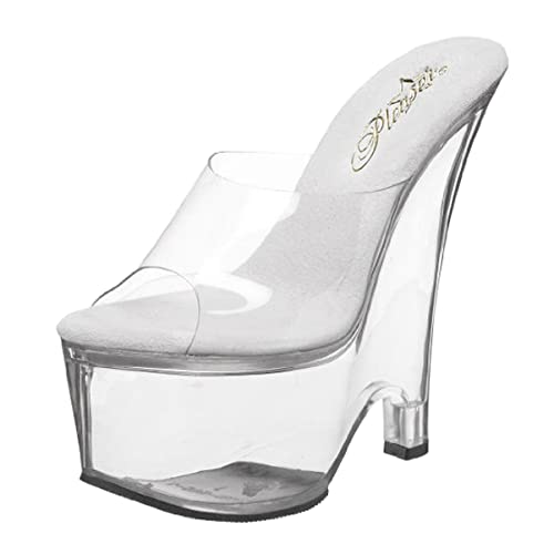 Heel Wedge Shoes Clear Platform