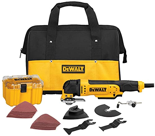 DEWALT Oscillating Tool Kit, Corded, 3-Amp, 29 Pieces DWE315K