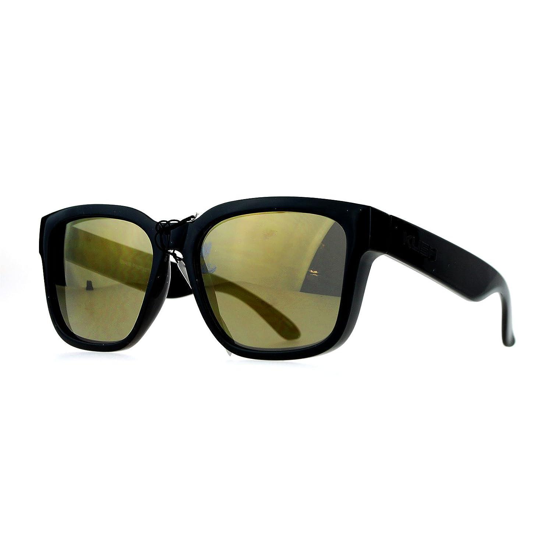 Kush Mens Mirror Lens Gangster Oversize Horn Rim Sunglasses