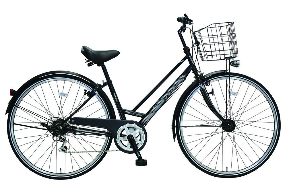 27型360°光るレアルタシティ外装6段LEDオートライト反射自転車 B079L5Q2GH マットブラック マットブラック