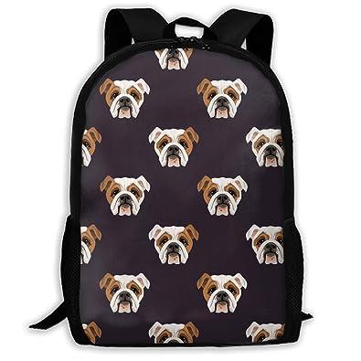 CVDGSAD Cute Bulldog School Mochila Casual Daypack Bolsas ...