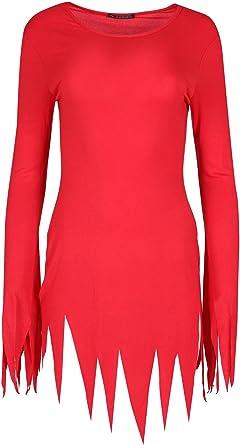 Womens Ladies Lazer Cut Out Sleeve Hem Round Neck Bodycon Halloween Mini Dress
