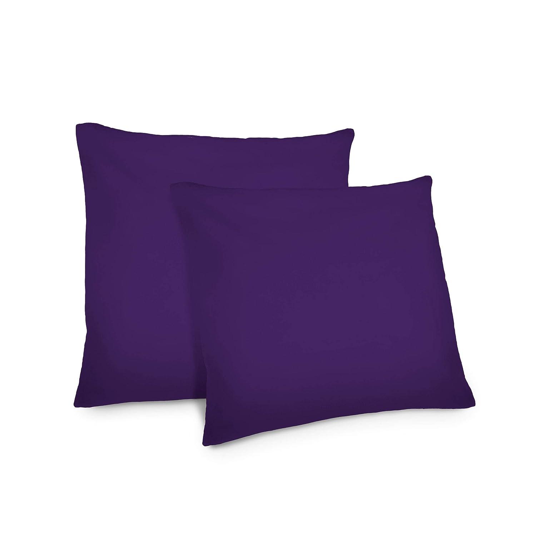 Lumaland Funda de Almohada 80x80 Violeta Oscuro