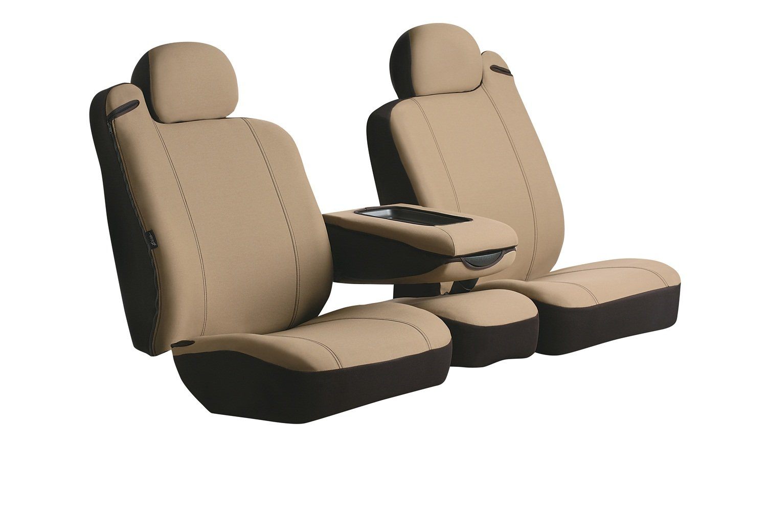 Fia SP87-10 GRAY Custom Fit Front Seat Cover Split Seat 40/20/40 - Poly-Cotton, (Gray)