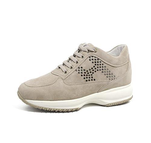 Hogan Scarpe Donna HXW00N0J940CR0M024 Interactive PE18 Beige  Amazon.co.uk   Shoes   Bags 6f11653a5a5